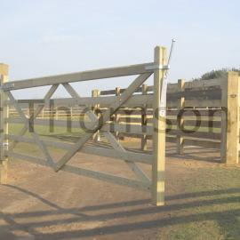 Sawn Treated Five Bar Gates