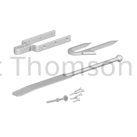 Spring Fastener Set with Staple Catch