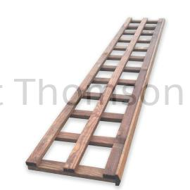 "Trellis 4"" Squares (Brown)"