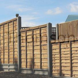 Superlap Fence Panels (Brown)