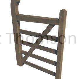 ***BACKORDER*** Estate (Horned) Five Bar Gates (Brown)